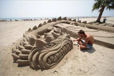 Escultura de arena